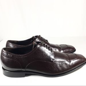 HUGO BOSS Brown Leather Oxford Casual Fashion Shoe
